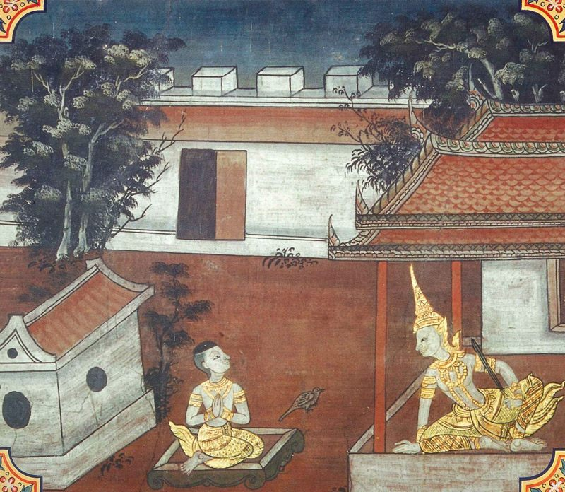 temple painting of Kokalika Jataka