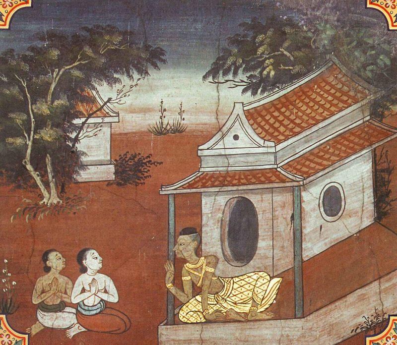 temple painting of Rathalatthi Jataka