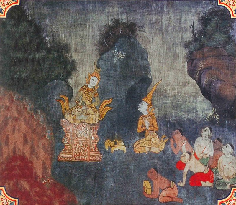 temple painting of Rajovada Jataka