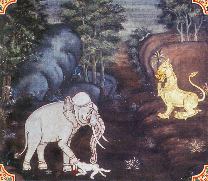 temple painting of Jambuka Jataka