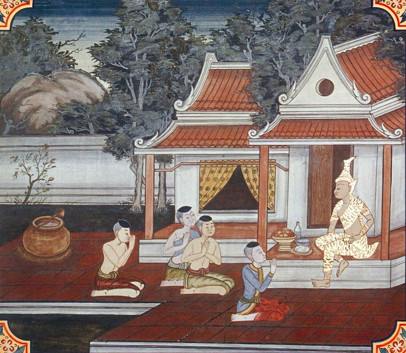 temple painting of Pitha Jataka