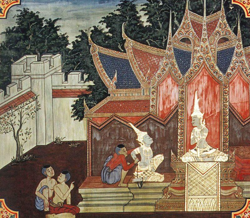 temple painting of Thusa Jataka