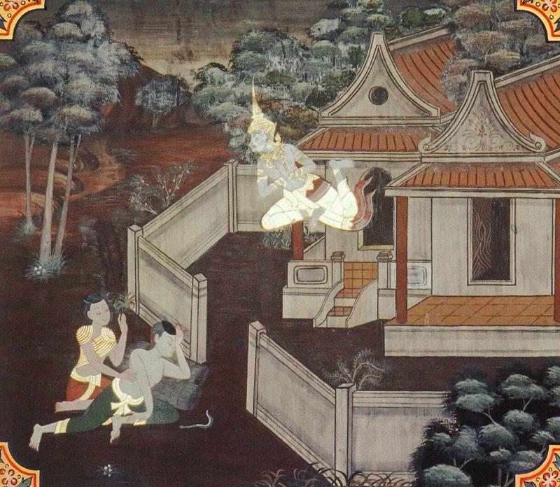 temple painting of Visayha Jataka