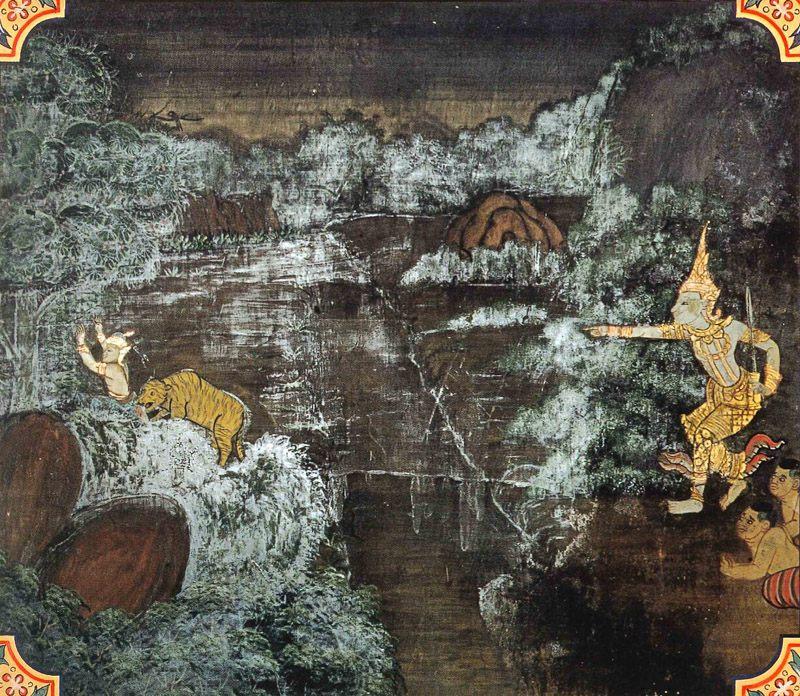 temple painting of Kuntani Jataka