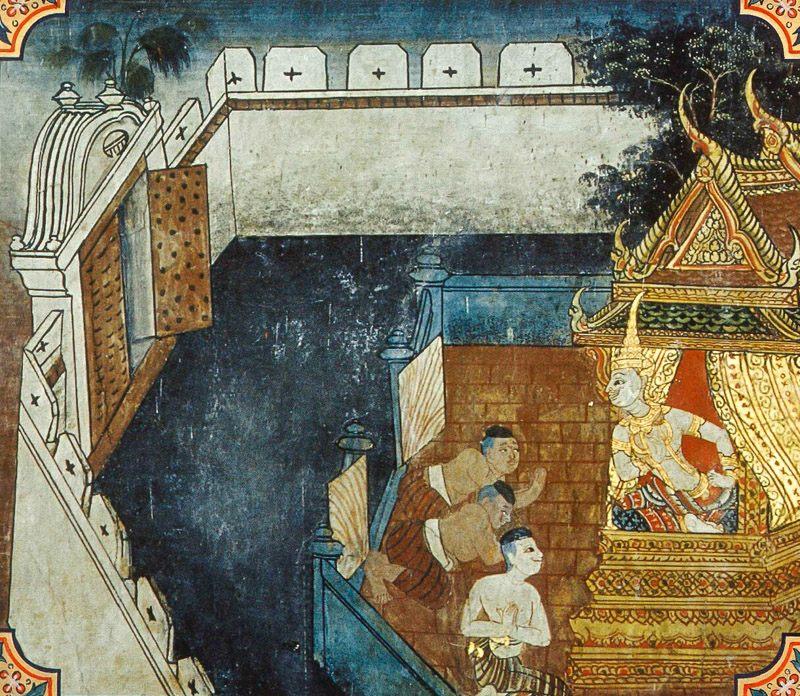 temple painting of Gajakumbha Jataka