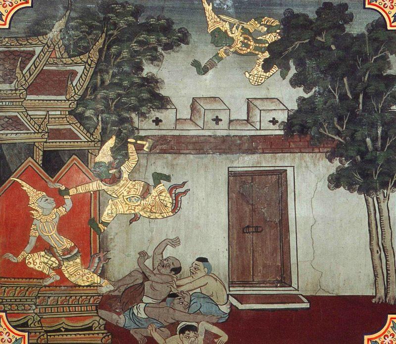 temple painting of Ayakuta Jataka