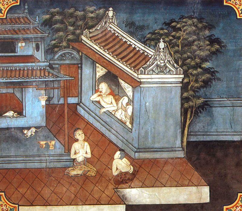 temple painting of Karandiya Jataka