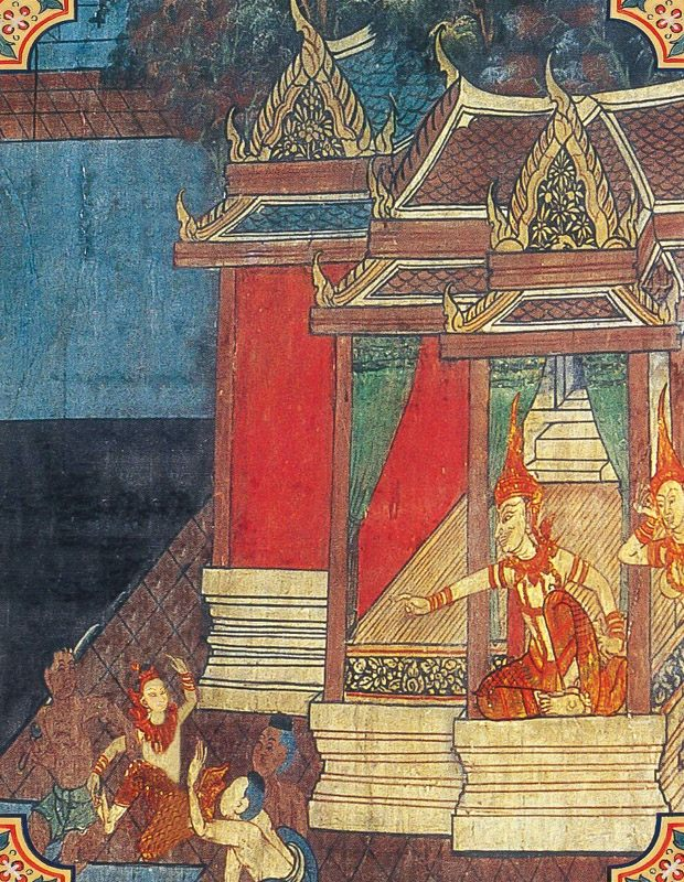 temple painting of Culladhammapala Jataka