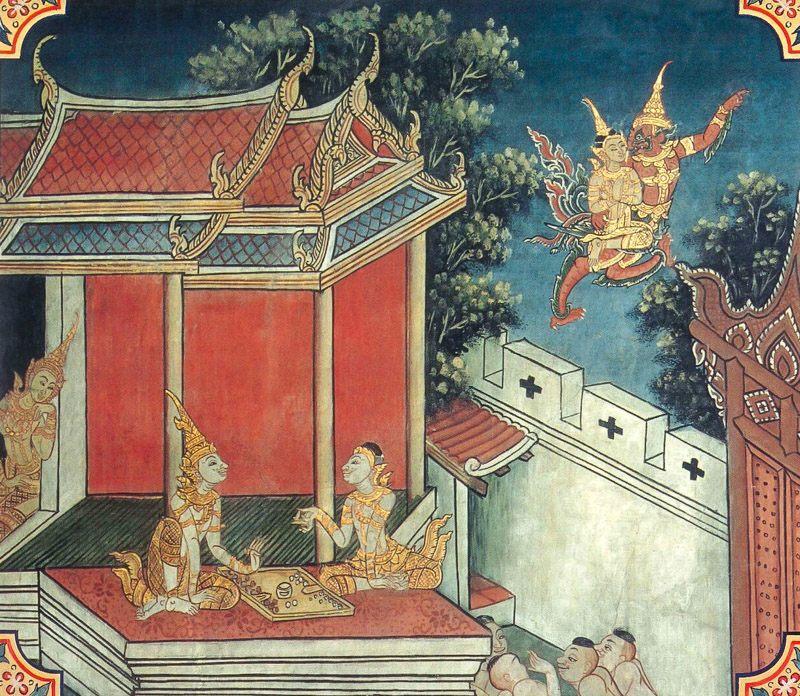 temple painting of Sussondi Jataka