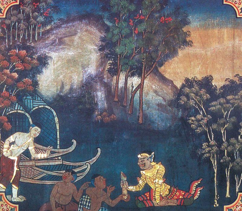 temple painting of Gumbiya Jataka