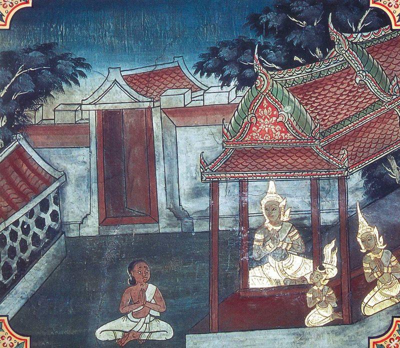 temple painting of Musika Jataka