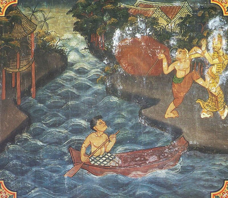 temple painting of Avariya Jataka