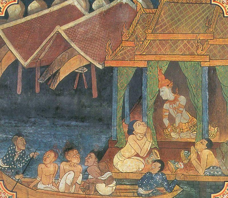 temple painting of Setaketu Jataka