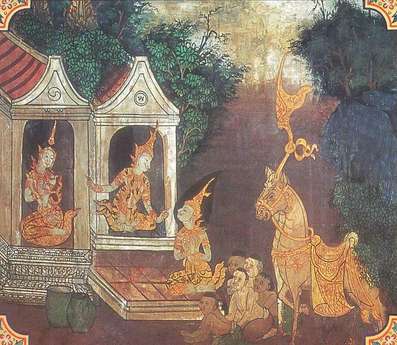 temple painting of Asanka Jataka