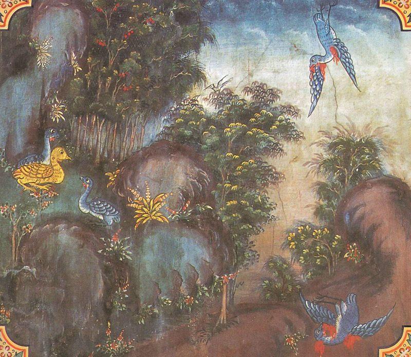 temple painting of Migalopa Jataka