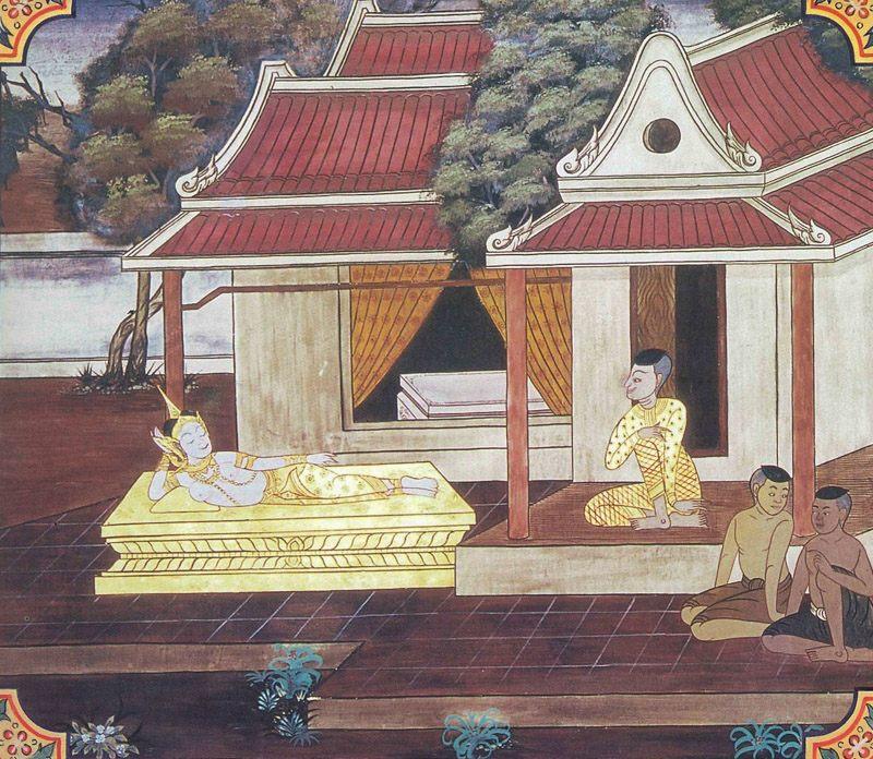 temple painting of Sirikalakanni Jataka