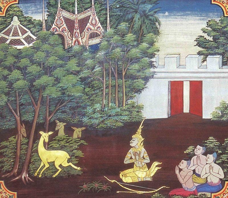 temple painting of Nandiyamiga Jataka