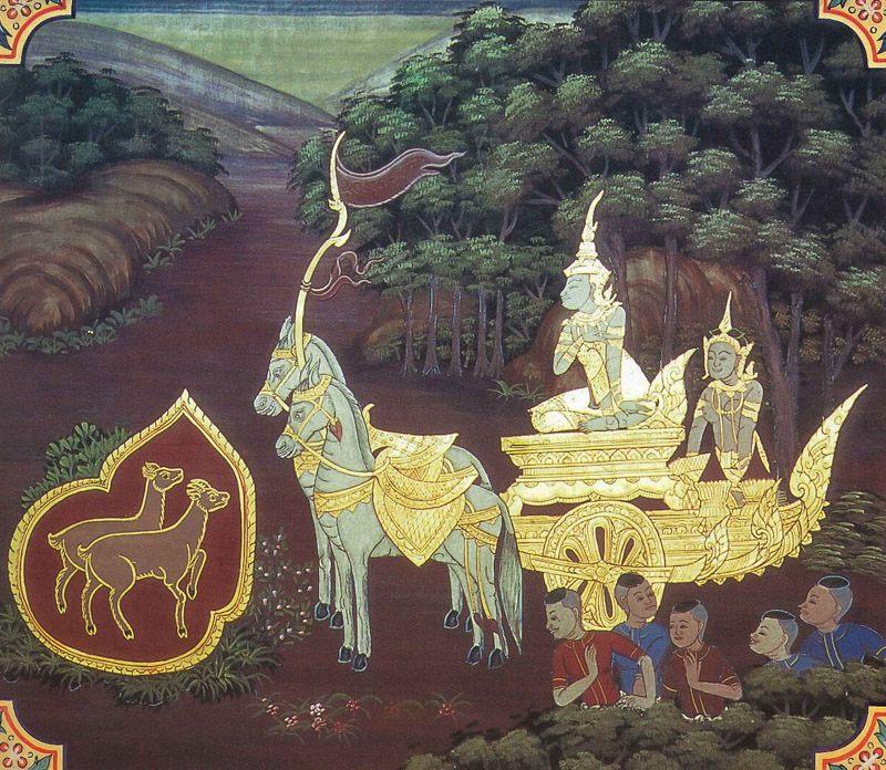temple painting of Kharaputta Jataka