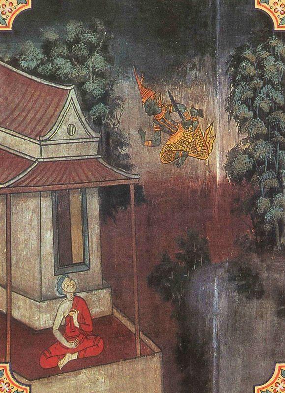 temple painting of Dhajavihetha Jataka