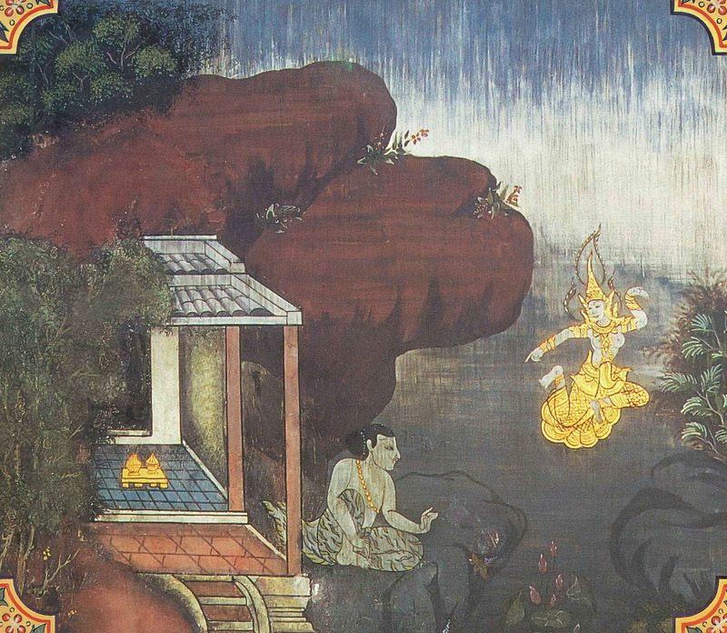 temple painting of Bhisapuppha Jataka