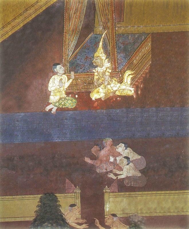 temple painting of Kukku Jataka
