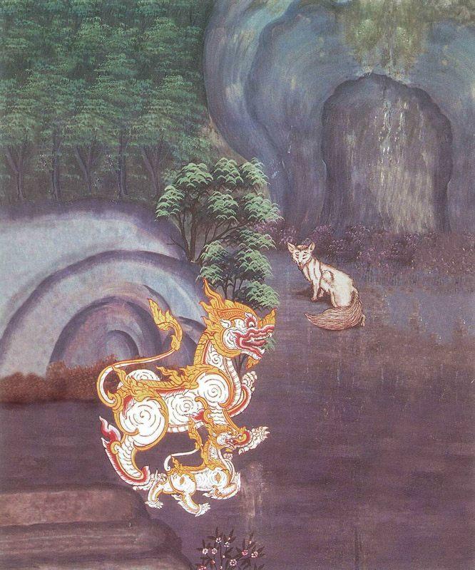temple painting of Manoja Jataka