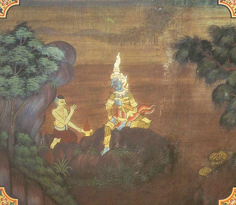 temple painting of Sutano Jataka