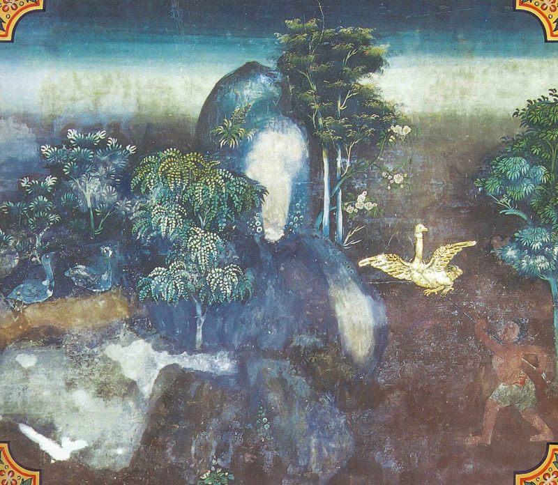 temple painting of Gijjha Jataka