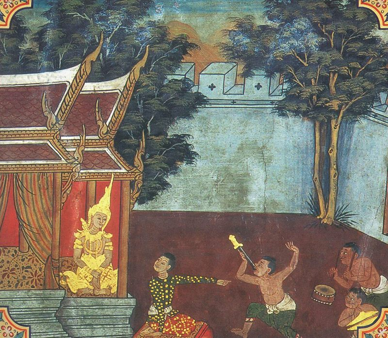 temple painting of Dasannaka Jataka
