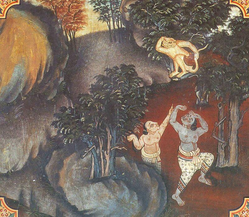 temple painting of Kapi Jataka