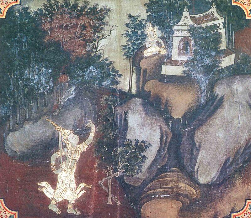 temple painting of Gandhara Jataka