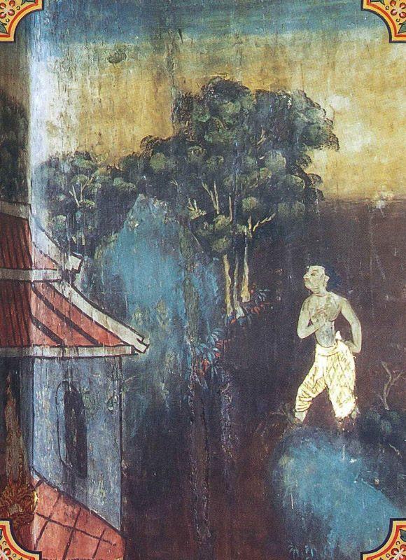 temple painting of Kumbhakara Jataka