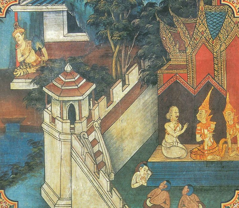 temple painting of Susima Jataka