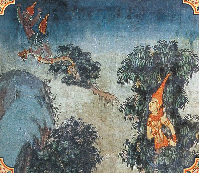temple painting of Kotisimbali Jataka