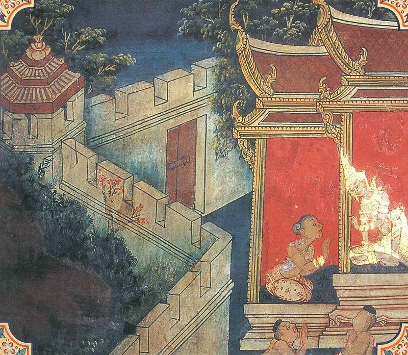 temple painting of Dhumakari Jataka