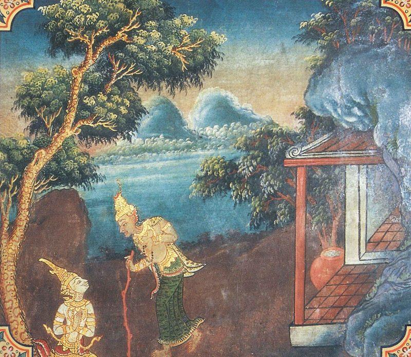 temple painting of Jagara Jataka
