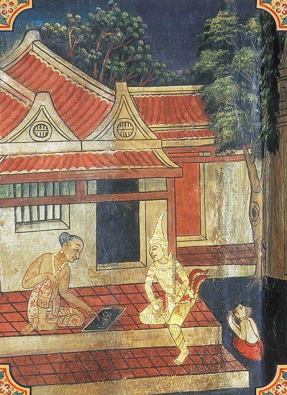 temple painting of Parantapa Jataka