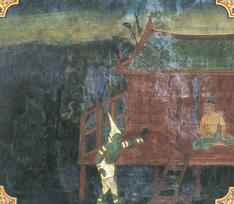 temple painting of Kaccani Jataka