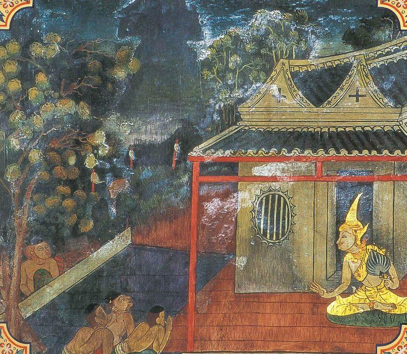 temple painting of Atthasadda Jataka