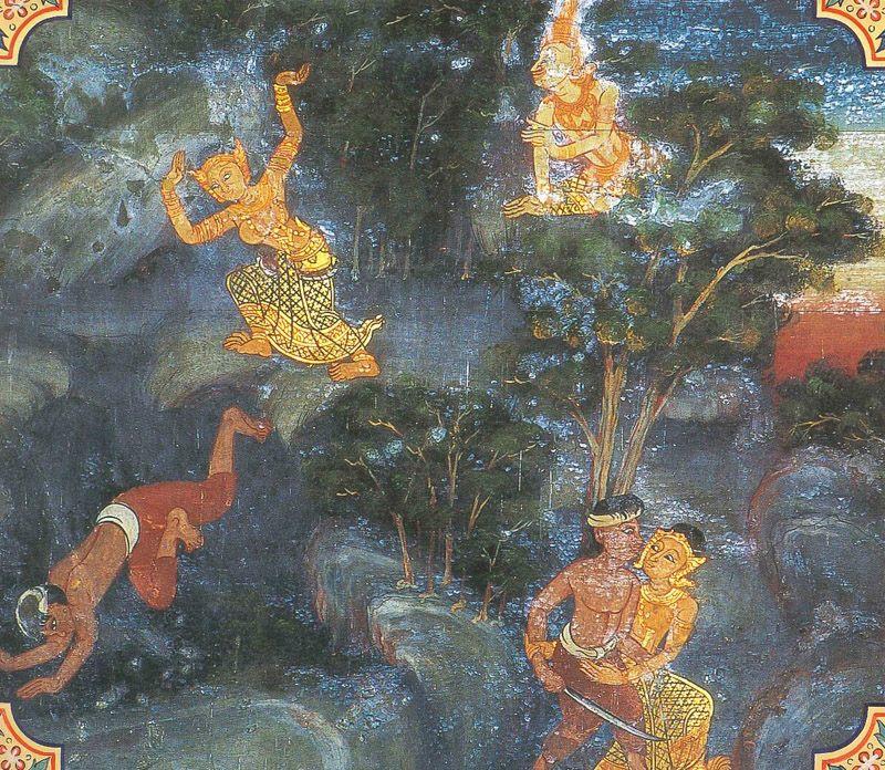 temple painting of Sulasa Jataka