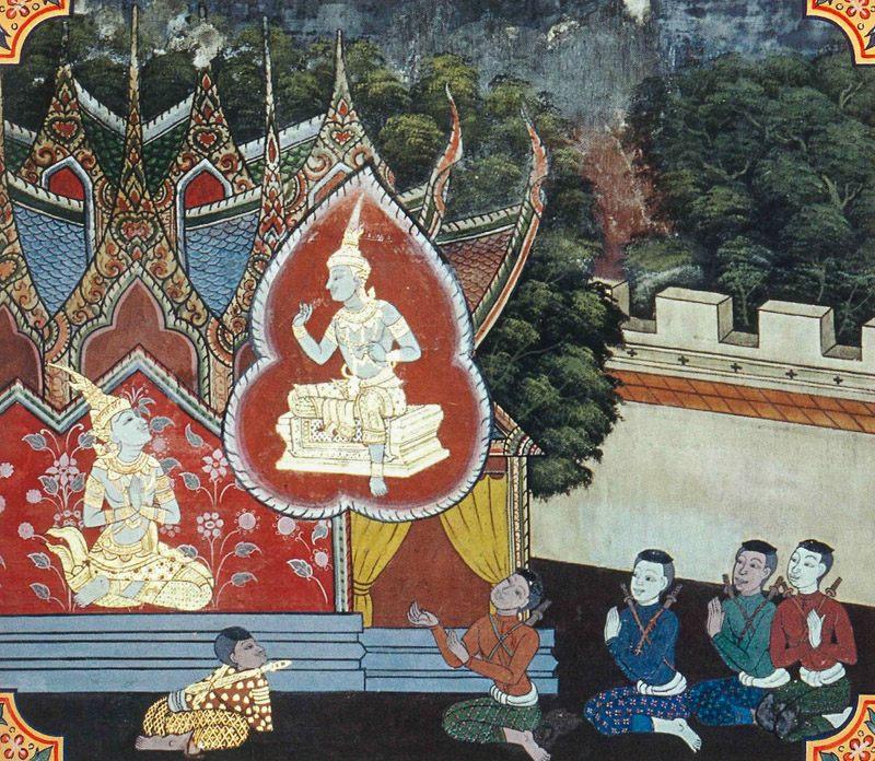 temple painting of Gangamala Jataka