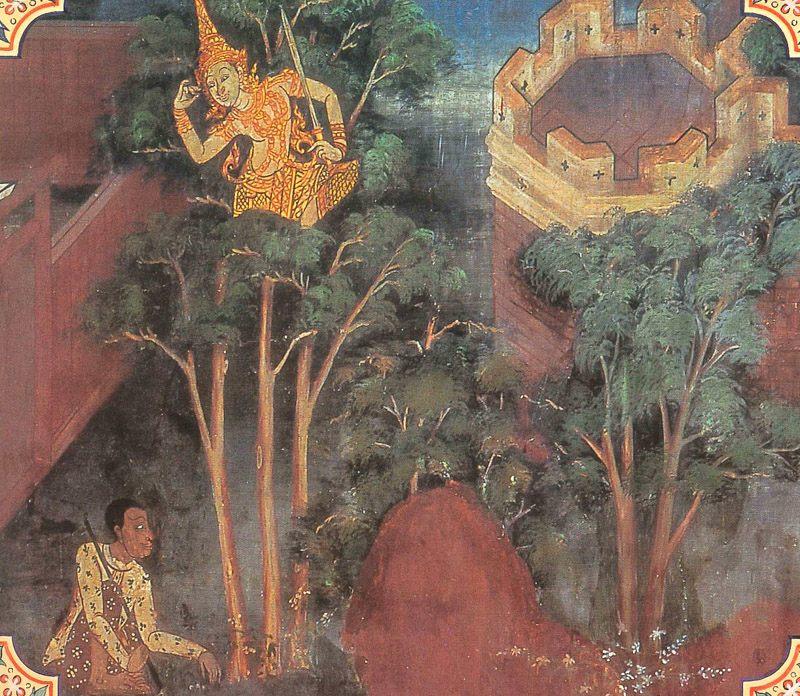 temple painting of Kusanali Jataka
