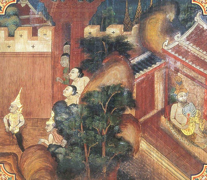temple painting of Cetiya Jataka
