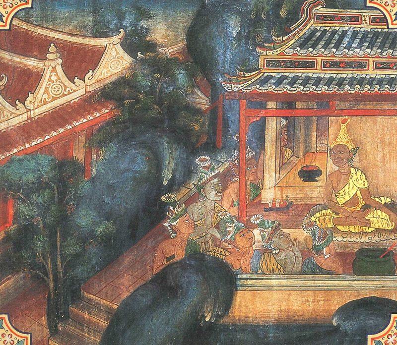 temple painting of Indriya Jataka
