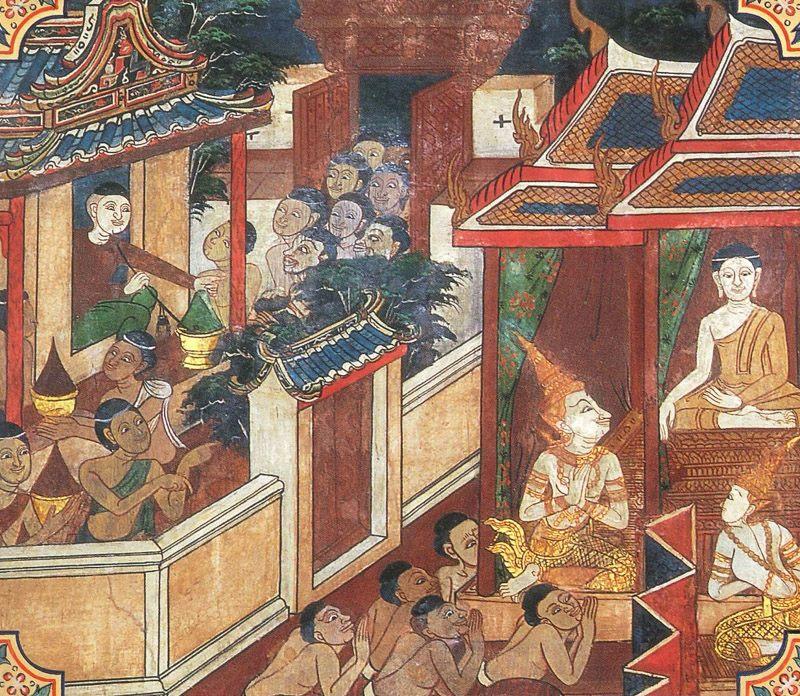 temple painting of Aditta Jataka