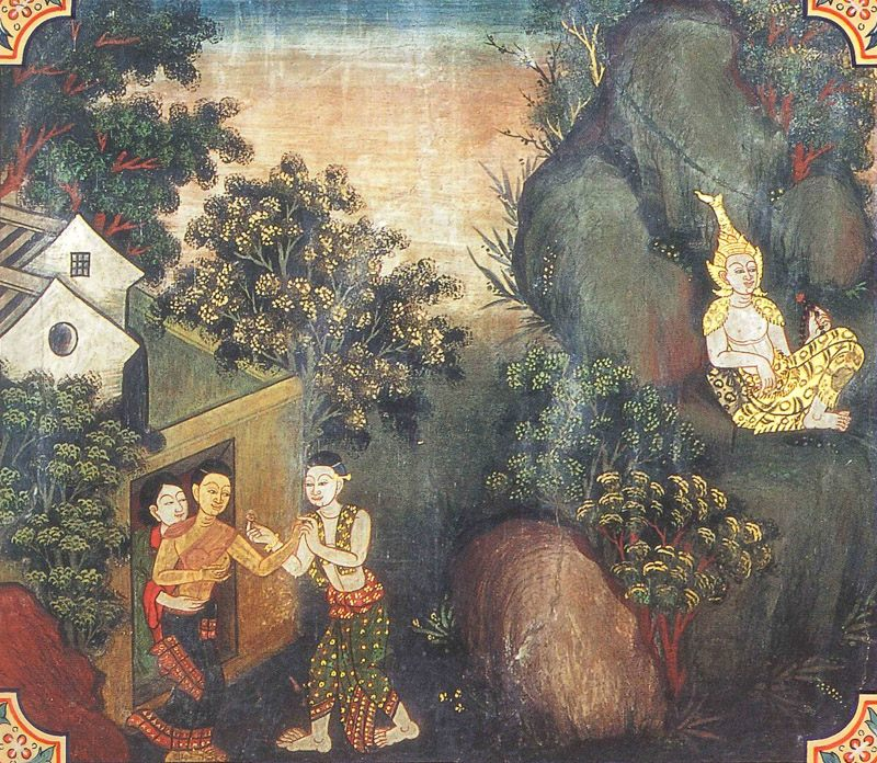 temple painting of Atthana Jataka
