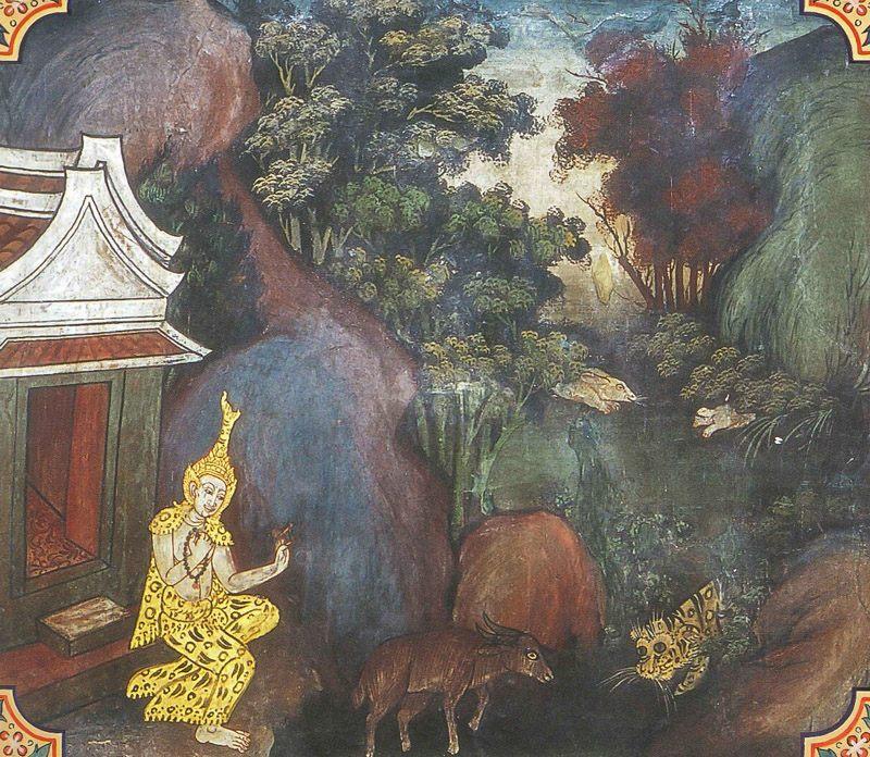 temple painting of Dipi Jataka