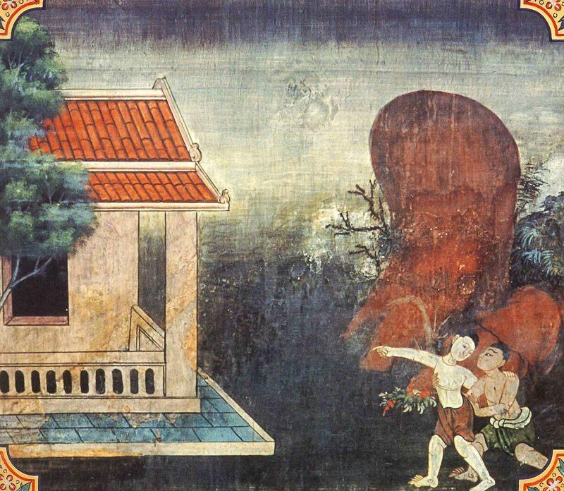temple painting of Harita Jataka