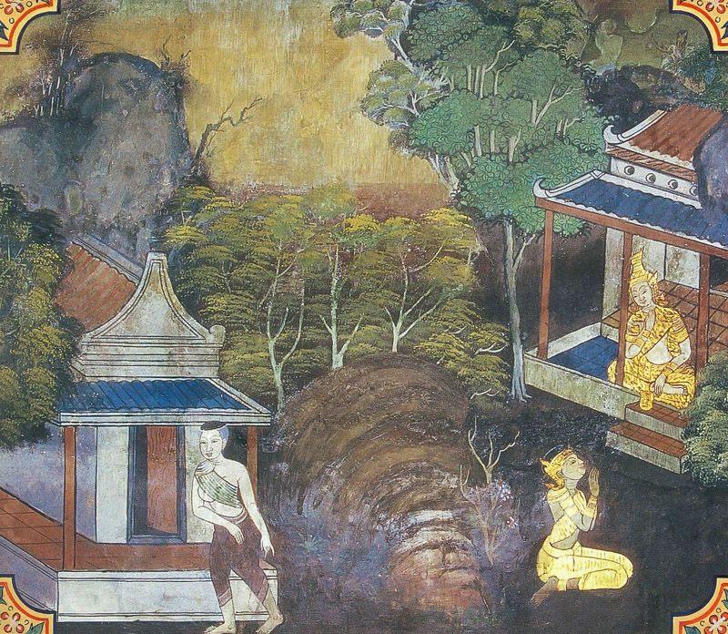 temple painting of Haliddiraga Jataka