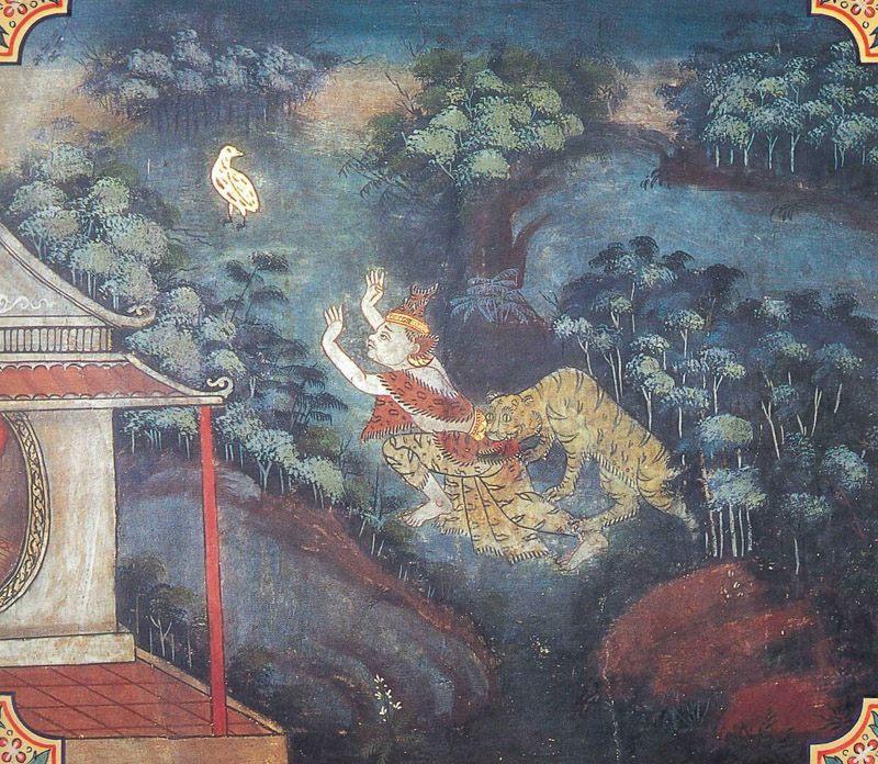 temple painting of Tittira Jataka